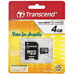 Transcend MicroSDHC 4 Gb +...