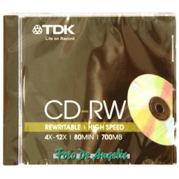 TDK CD-RW 700mb 4x-12x speed