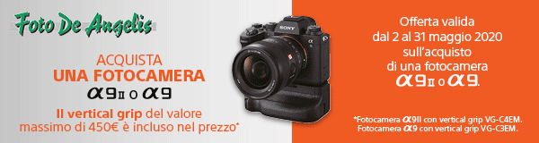 Sony A9 grip omaggio banner