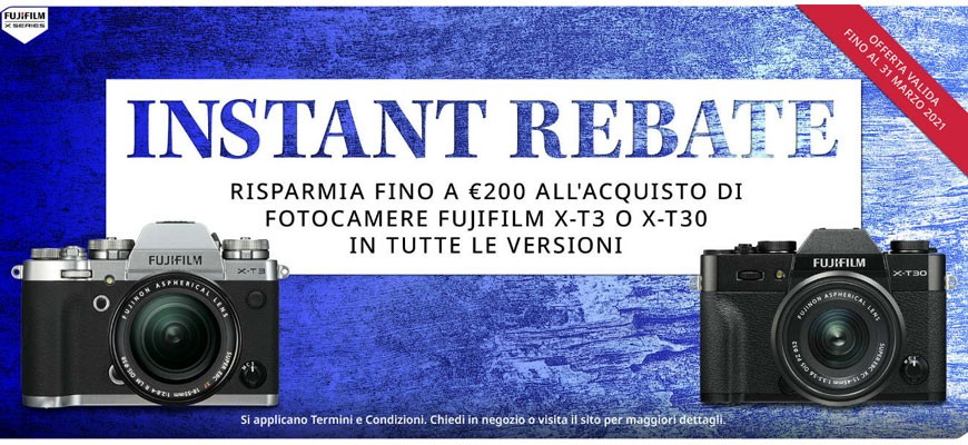 Fujifilm X-T3 e X-T30 con sconto immediato
