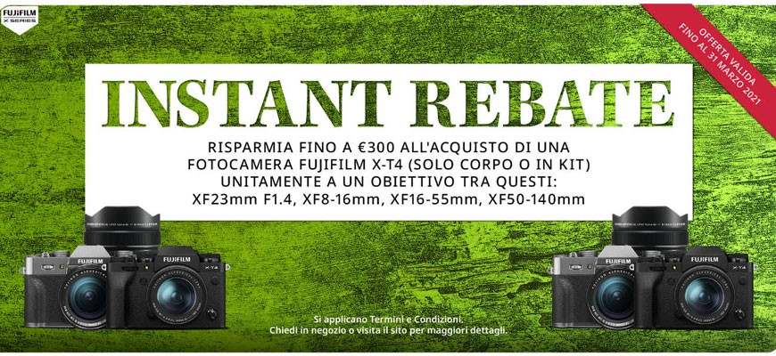 Fujifilm X-T4 con sconto immediato